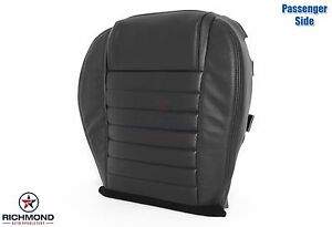 05 09 Ford Mustang passenger Side Bottom Replacement Leather Seat Cover Black