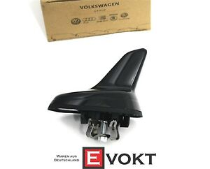 Vw Volkswagen Polo 6c 2015 Black Glossy Dummy Roof Antenna 5q0035507k5fq New