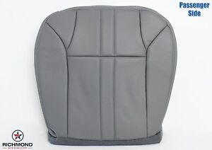 2000 2001 Ford Excursion Xlt Passenger Side Bottom Leather Seat Cover Gray