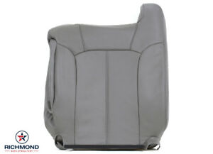 2000 2002 Chevy Tahoe Suburban Lt Driver Side Lean Back Leather Seat Cover Gray