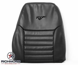 2003 Ford Mustang Gt driver Side Lean Back Perforated Leather Seat Cover Black