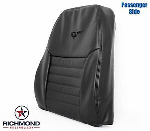 1999 2000 Ford Mustang Gt V8 Passenger Side Lean Back Leather Seat Cover Black