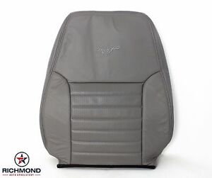 2001 Ford Mustang Gt Driver Side Lean Back Perforated Leather Seat Cover Gray