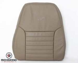 1999 Ford Mustang Gt V8 Driver Side Lean Back Perforated Leather Seat Cover Tan