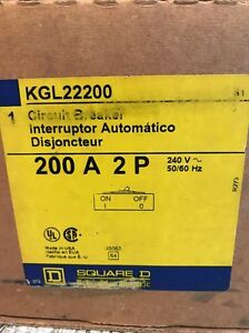 Square D Kgl22200 Circuit Breaker 2 Pole 200 Amp New In Box