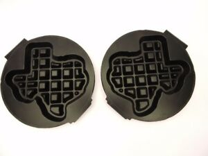 Carbons Waffle Baker Maker Grid Plates Shape Of Texas Replacement Set New