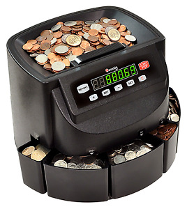 Us Money Coin Sorter Machine Counting Adding Batching Mode Tray Electronic Auto
