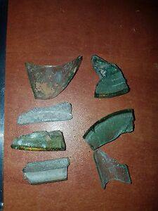 Lot Of Ancient Roman Glass Fragments From The Roman Period