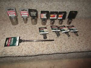 New Vintage Craftsman Socket Set Allen Kd 1 4 3 8 1 2 Drive Usa 12 Piece Set Nos