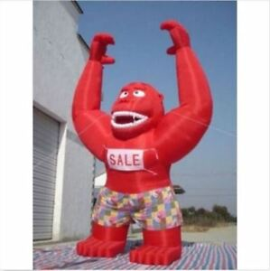 Advertising Promotion Inflatable Red Gorilla New 20ft With Blower Ca