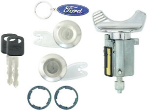 Ford Ignition Switch Lock Cylinder Pair 2 Door Lock Cylinder W 2 Logo Keys