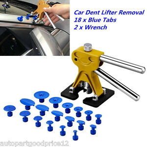 Car Body Paintless Dent Repair Tools Pdr Puller Removal W 18 Glue Pulling Tabs
