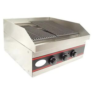 L j Gcb24 24 inch Two Burner Countertop Gas Charbroiler Nsf