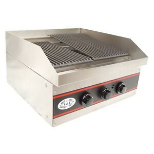 L j Gcb12 12 inch One Burner Countertop Gas Charbroiler Nsf