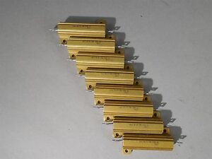 Lot Of 8 Dale Power Resistor Nh 50 50w 100 New
