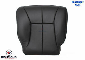 2000 2001 Dodge Ram 1500 Passenger Side Bottom Leather Seat Cover Dk Gray Black
