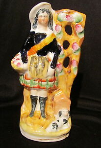 Antique English Staffordshire Pottery Figurine Circa 1850