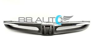 New Front Bumper Grille Grey W Chrome Trim For 2006 2007 Honda Accord Sedan