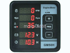 Power Generator Rpm Oil Press Oil Water Temp Votalge Time Digital Panel Meter