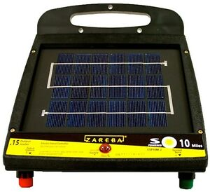 Zareba 10 Mile Low Impedance Solar Fencer Sun Power Battery Cordon Pulse Charge
