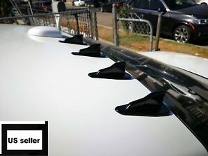 10x Universal Black Air Diffuser Wing Shark Fin Spoiler Roof Wing Trunk Trim New