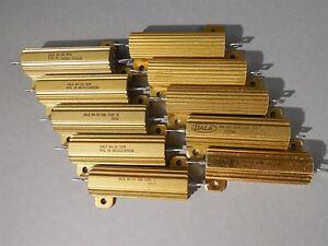 Mixed Lot Of 10 Dale Power Resistor 50w New
