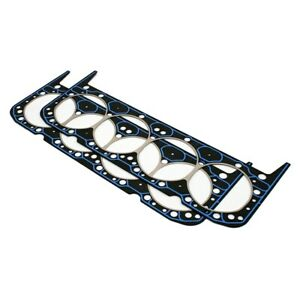 1 Pair Fel Pro 1010 Sbc Chevy Performance Cylinder Head Gaskets Aluminum Heads