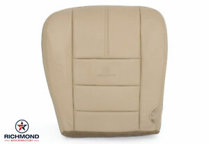 2008 Ford F250 F350 Lariat driver Side Bottom Replacement Leather Seat Cover Tan