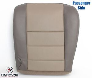 2004 Ford Excursion Eddie Bauer Passenger Side Bottom Leather Seat Cover 2 Tone