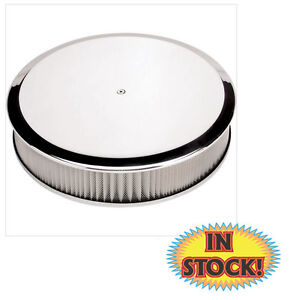 Billet Specialties 15829 14 Round Smooth Air Cleaner Polished