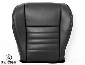 2002 Ford Mustang Gt V8 driver Side Bottom Replacement Leather Seat Cover Black