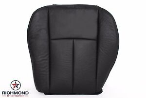 2005 2009 Gmc Envoy Denali Slt Sle driver Side Bottom Leather Seat Cover Black