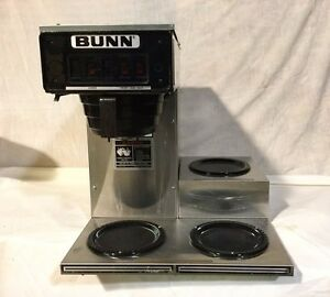 Bunn Pourover Commercial Coffee Brewer With Three Warmers