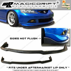 02 03 04 05 06 Acura Rsx Front Bumper Add on Winglet Diffuser Splitter Lip
