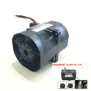 Electric Turbine Turbo Double Fan Super Charger Boost Intake Fans 60 2 7a