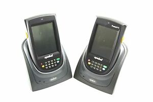Set Of 2 Symbol Hand Held Wireless Barcode Scanner No Adapter Ppt8800 t2by1d00