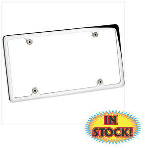 Billet Specialties 55120 Plain License Plate Frame Without Light Polished
