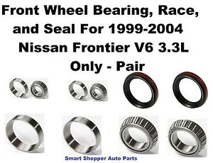 Front Wheel Bearing Race Seal For 1999 2004 Nissan Frontier V6 3 3l 4wd pair