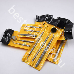 10 Set 30 Pcs Dental Instruments Basic Rmover Mirror Explorer Pliers Stainless