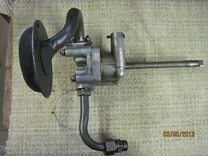 Satoh S650 Tractor Oil Pump With Pick Up Tubes Used