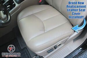 2004 2005 2006 Gmc Sierra 1500 2500hd Driver Side Bottom Leather Seat Cover Tan