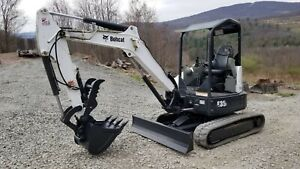 Bobcat 329g Excavator Hydraulic Thumb Kubota Diesel Low Hr Ready To Work In Pa