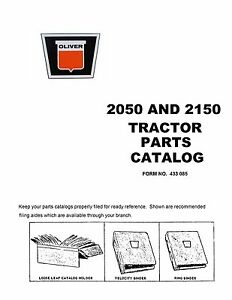 2050 2150 Oliver Parts Catalog Reproduction