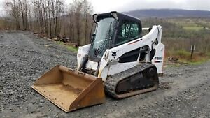2011 Bobcat T770 Track Skid Steer High Flow Forestry Package Steel Tracks
