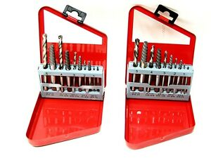 20pc Screw Extractor Right Hand Left Hand Drill Bit Set Easy Out Broken Bolt