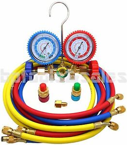 Refrigeration Air Conditioning A c Diagnostic Manifold Gauge R134a R502a R22 R12