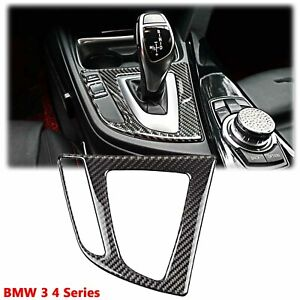 Carbon Fiber Interior Gear Shift Panel Trim Cover Decal For Bmw 3 4 F32 F30 F34