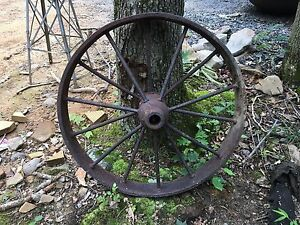 Antique Steel Wagon Wheel