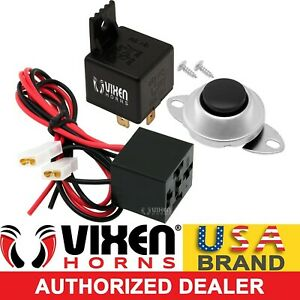 4 Pin Horn Relay 30a 12v W Pre Wired Quick Connect Plug Socket Button Vxk7802