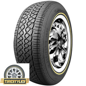 1 215 70r15 Vogue Tyre Whitewall W gold Tire